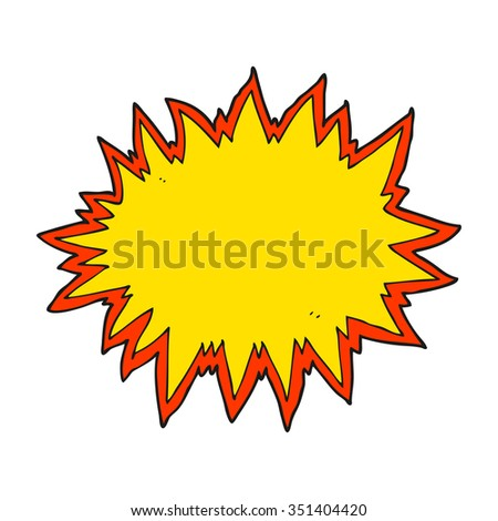 freehand drawn cartoon explosion sign - stock vector