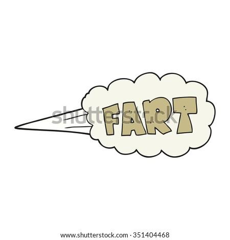 freehand drawn cartoon fart symbol - stock vector