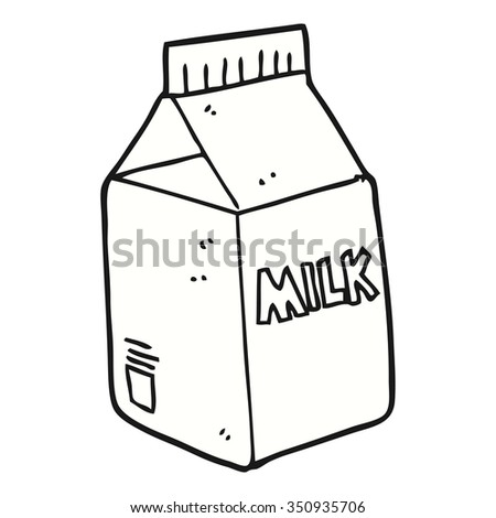 freehand drawn cartoon milk carton stock vector 2018 350935706 rh shutterstock com milk carton drawing tumblr i'm a unicorn milk carton drawing