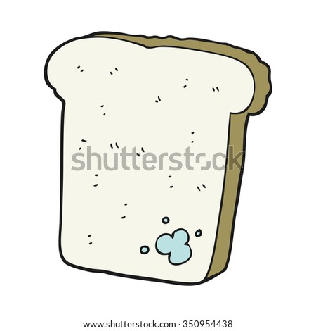 freehand drawn cartoon mouldy bread - stock vector