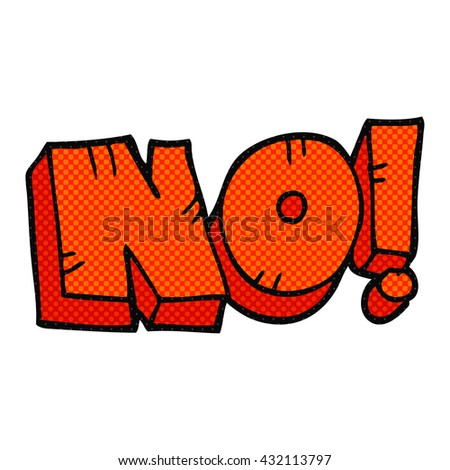 freehand drawn cartoon NO! shout