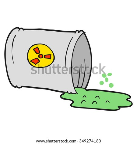 freehand drawn cartoon nuclear waste - stock vector