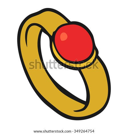 freehand drawn cartoon ring - stock vector