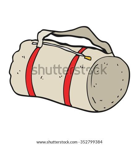 freehand drawn cartoon sports bag - stock vector
