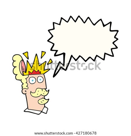 freehand drawn speech bubble cartoon man with exploding head - stock vector