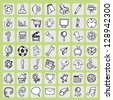 Freehand icon set - stock vector