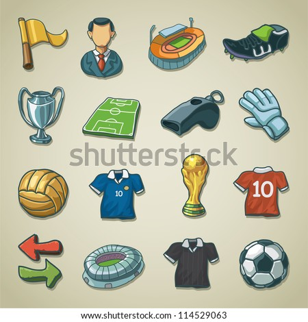 Freehand icons - Football / Soccer