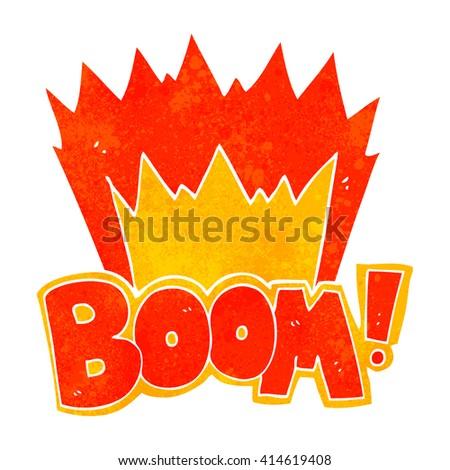freehand retro cartoon boom symbol - stock vector