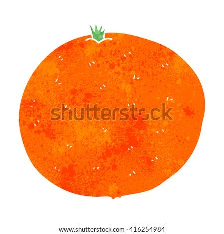 freehand retro cartoon orange - stock vector