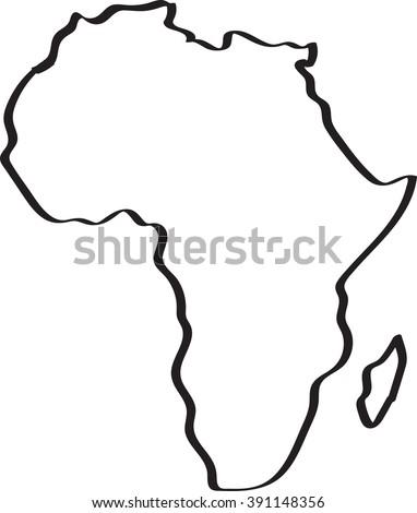 africa map line art