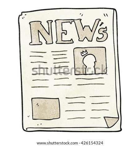 freehand textured cartoon newspaper