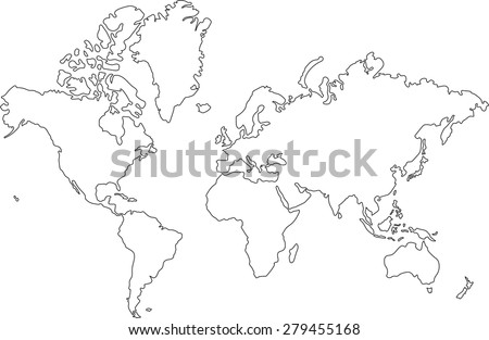 World map outline stock images royalty free images vectors freehand world map sketch on white background gumiabroncs Choice Image