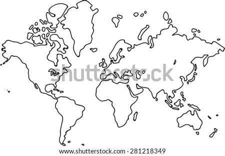Freehand world map sketch on white stock vector hd royalty free freehand world map sketch on white background gumiabroncs Image collections