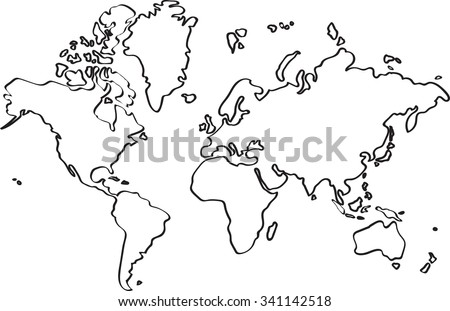 World map sketch imgenes pagas y sin cargo y vectores en stock freehand world map sketch on white background gumiabroncs Image collections