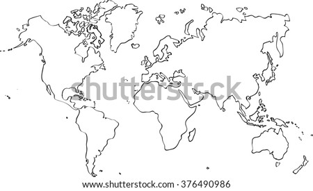 Freehand world map sketch on white vector de stock376490986 freehand world map sketch on white background gumiabroncs Choice Image