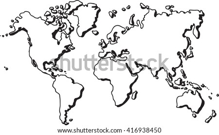 Freehand world map sketch on white stock vector 416938450 freehand world map sketch on white background gumiabroncs Images