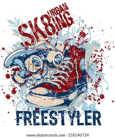 Freestyler - stock vector