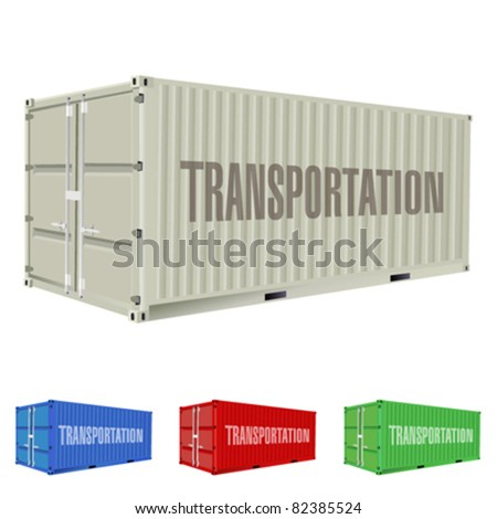 freight container - stock vector