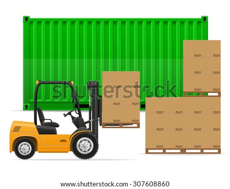 freight transportation concept vector illustration isolated on white background - stock vector