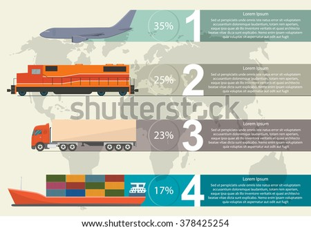 Freight transportation info graphic - stock vector