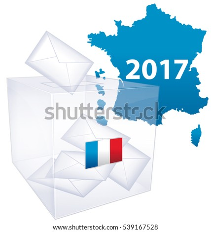 French elections 2017. Political vote issue icon.