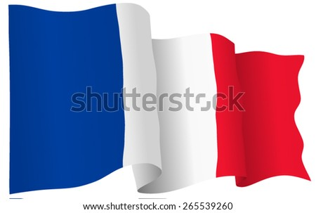 French flag of France isolated. Vector format. - stock vector