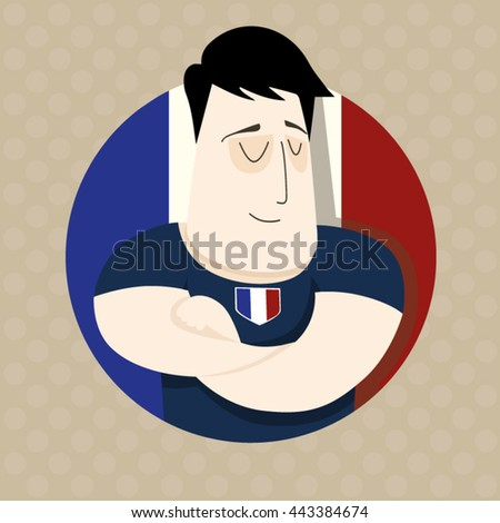 French football player - stock vector