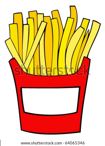 French fries. - stock vector