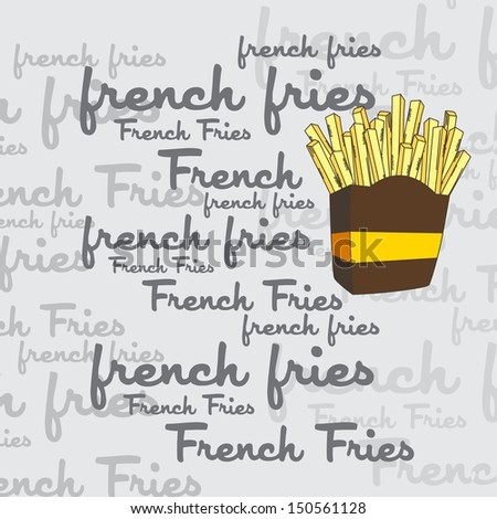 french fries art page - stock vector