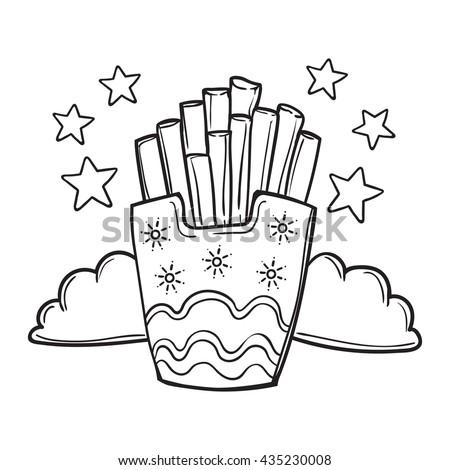 Taco Coloring Book Illustration Stock Vector 435230014 Shutterstock