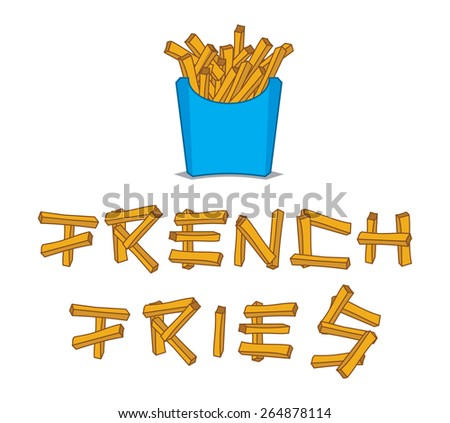 French fries vector illustration - stock vector