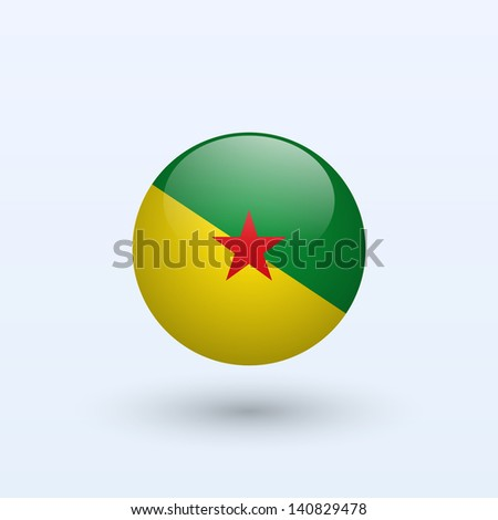 French Guiana round flag. Vector illustration. - stock vector