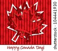 French 'Happy Canada Day' hollow sticker card in vector format. - stock vector