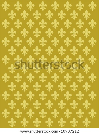 French Lily flower motif background vector design