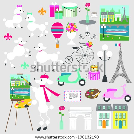 French Poodle Clip Art