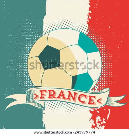 french soccer ball symbol - stock vector