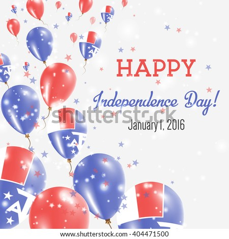 French Southern Territories Independence Day Greeting Card. Flying Balloons in French National Colors. Happy Independence Day French Southern Territories Vector Illustration.