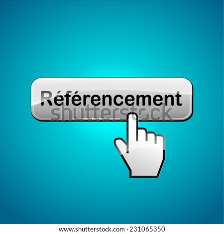 french translation for seo web button concept - stock vector