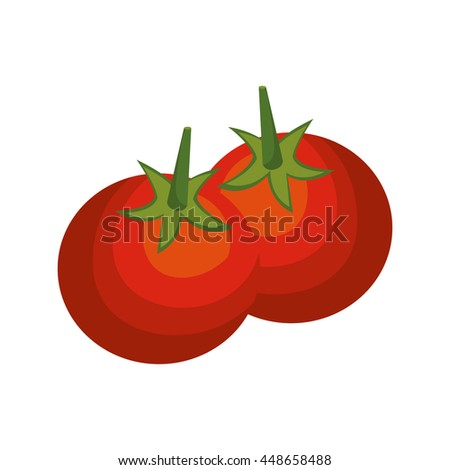 Fresh and delicious tomato vegetable icon, vector illustration.