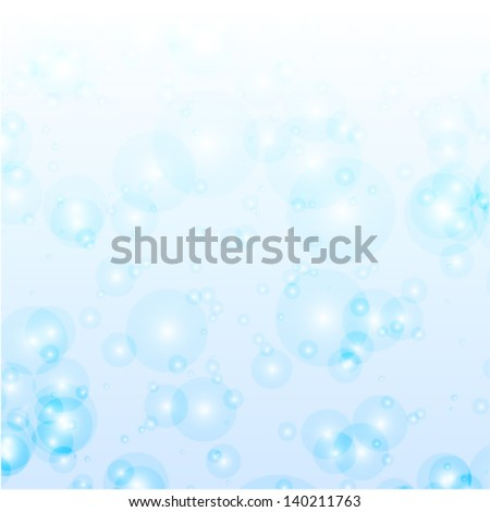 fresh blue bubbles, abstract natural background (ideal for fresh concept works)