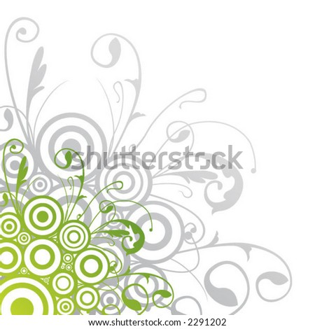 fresh corner scrolls - stock vector