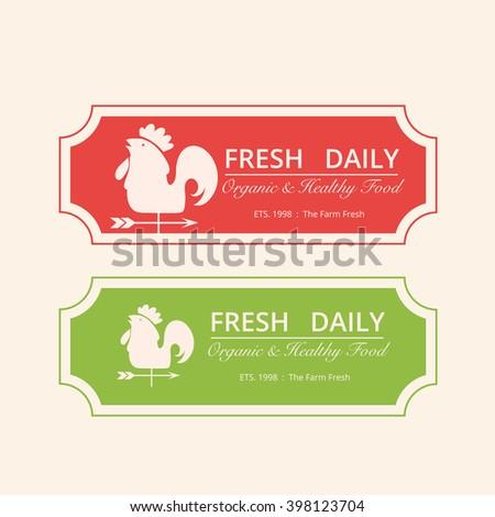 Fresh Daily logo,Farm logo, Vector logo template - stock vector