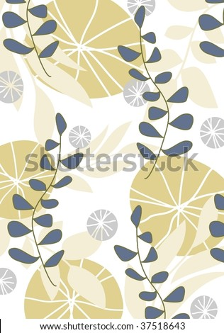 fresh floral pattern 3 - stock vector