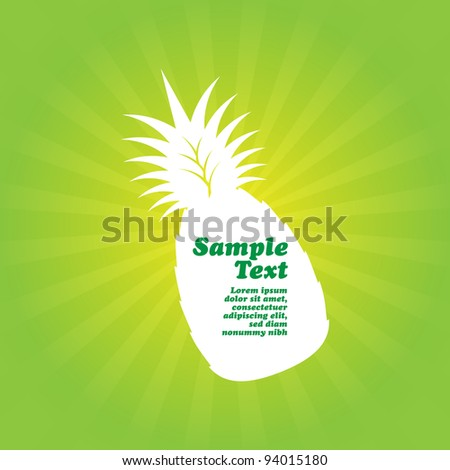 Fresh Fruit Background with Pineapple