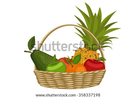 Fresh fruit in a basket