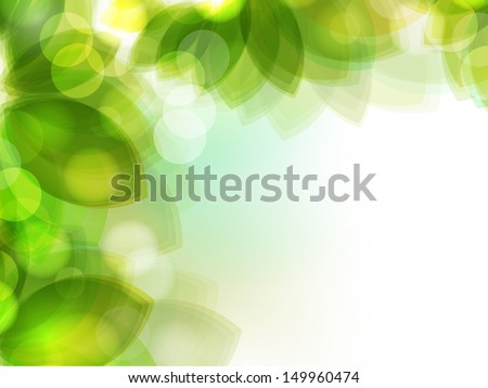 Fresh green leaves nature background.  - stock vector