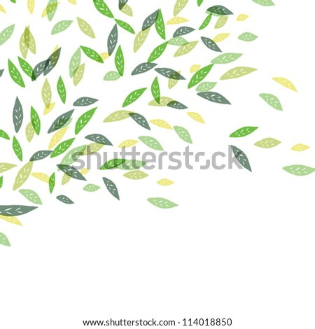 Fresh green leaves. Vector illustration, EPS10. - stock vector
