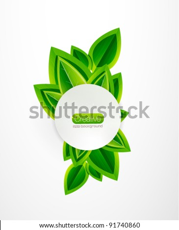 Fresh green nature background - stock vector