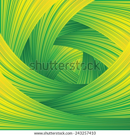 Fresh Green Swirl Background - stock vector