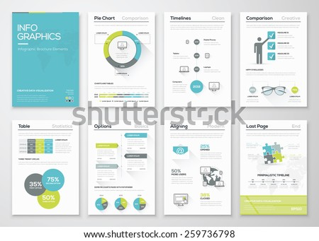 Fresh infographics vector concept. Business graphics brochures. Used for workflow layout, diagram, number options, step up options, web template, infographics, websites, brochures, flyers and prints. - stock vector